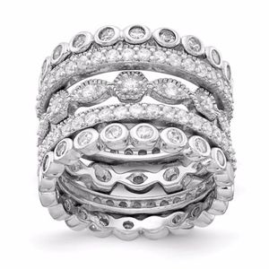 Eternity Five Ring Set